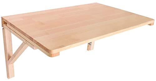 Sólido mesa plegable de mad era Pura madera sólida de pared Mesa plegable se puede utilizar for los paneles de protección del medio ambiente for asegurar el mantenimiento seguro (Tamaño: 80x50cm), Tam