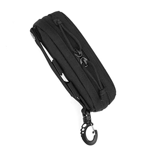 LIVIQILY Tactical MOLLE Glasses Shockproof Protective Box Portable Outdoor Sunglasses Pouch Eyewear Carry Case (Black)