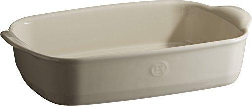 Emile Henry Eh029650 Petit Plat à Four Rectangulaire Céramique Beige Argile