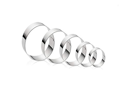 Egg Cookie Cutter Set - 5 Pieces - Stainless Steel Assorted Sizes