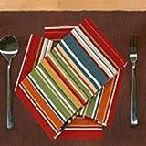 Ruvanti Tischtuch-Servietten, 6 Stück, 100 % Baumwolle, 45,7 x 45,7 cm, weiche und bequeme Baumwoll-Servietten. Mehrfarbige luxuriöse Leinenservietten für Weihnachten/Thanksgiving-Abendessen - 7