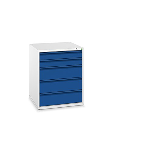 bott verso+ Schubladenschrank mit 5 Schubladen und Zentralschloss, 650 x 650 x 800 mm, 1 Stück,...