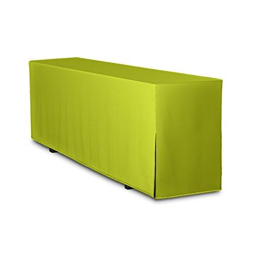 TexDeko Biertischhusse Premium (nur Tisch 220cm) (50cm, Apfelgrün)
