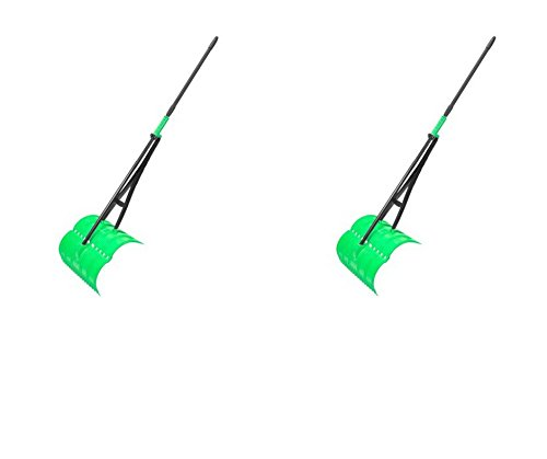 Amazing Rake 2 x 3-in-1 Lime Green Ergonomic Lightweight 17-Inch Lawn Leaf Grabber Claw Yard Garden Tool - for Leaves Grass Pine Needles Debris (Double Pack)