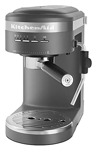 KitchenAid KES6403DG Semi-Automatic Espresso Machine, One Size, Matte Charcoal Grey