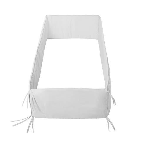 Cambrass Liso E Parachoques de Cuna, Blanco (White), 360x30 CM