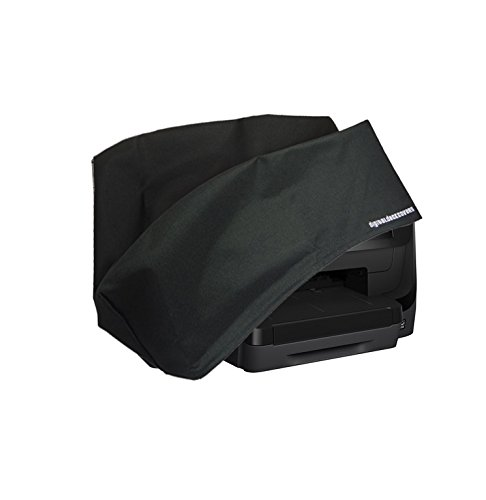 HP Officejet Pro 8710/8715 / 8718/8719 Printer Dust Cover and Protector [Antistatic, Water Resistant, Heavy Duty Fabric, Black] by DigitalDeckCovers