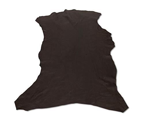 Zerimar Natur Lederreste | Lederreste Kaufen | Lederreste Sortiert | DIY Lederreste | Farbe: dunkel blau | Massnahmen: 90x80 cm