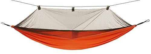 Grand Canyon Bass Mosquito Hammock - Amaca Outdoor Fino a 150 kg, Amaca da Viaggio con zanzariera - Leggera e compatta con Protezioni per Gli Alberi - Roiboos Tea (Marrone)