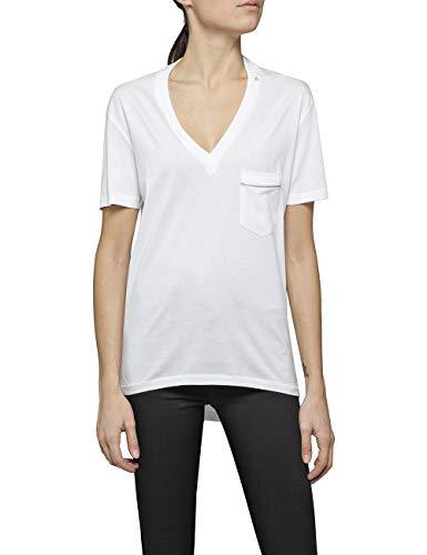 Replay Damen W3240 .000.22748 T-Shirt, Weiß (Optical White 1), Medium (Herstellergröße: M)