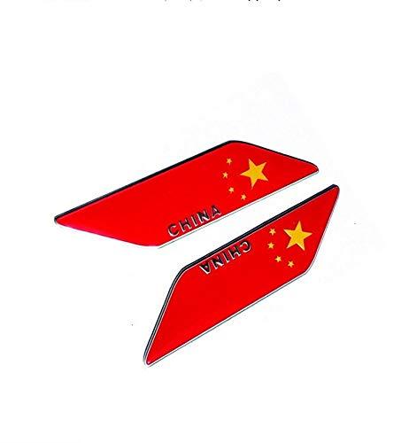 Aleación Bandera Hoja Tablero Pegatinas de Coche Bandera Placa Placa Lateral Puerta Lámina Decorativa (Sombreado) (Color : 2)