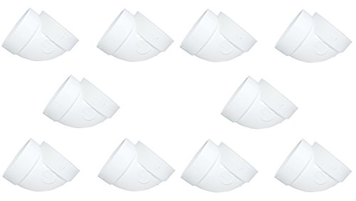 ZVac Central Vacuum Pipe Fittings Short 10pk Short 90 Degree for Replacement Compatible for All Central Vacuum Systems
