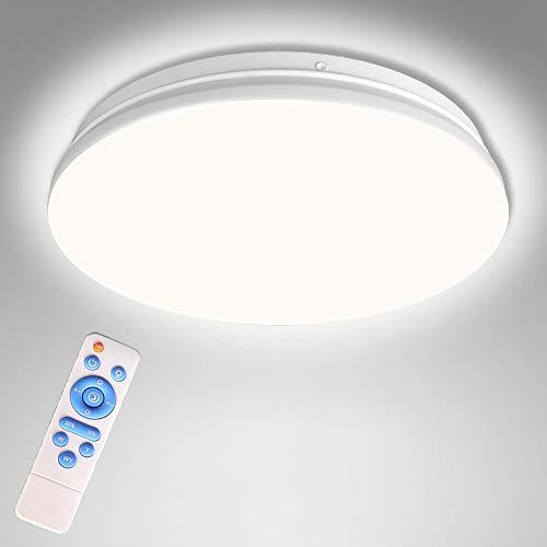 Fernbedienung Deckenlampe LED Dimmbar, Schlafzimmer Licht mit Timer, 20W Deckenleuchte Wasserdicht, Lampe Decke Moderne Ø33CM für Badezimmer, Küche, Balkon, Flur