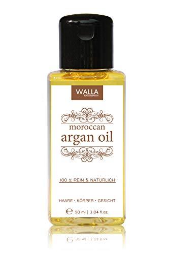 Huile d'argan marocain 90 ml pression à froid | vegan | 100% pur et naturel | pour cheveux, corps, visage et ongles