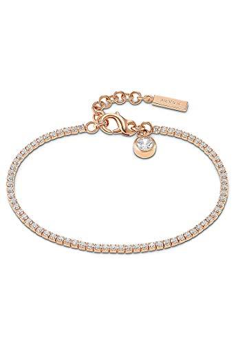 JETTE Damen-Armband 925er Silber 72 Zirkonia One Size Roségold 32010172