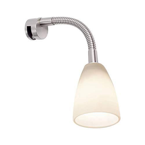 Paulmann 99906 Galeria Spiegelleuchte LED Spiegellampe Curvus Badezimmerlampe Eisen gebürstet Spiegelbeleuchtung inkl. Leuchtmittel 1x22W G9
