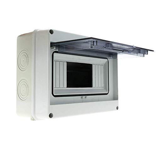 BeMatik - Caja de distribución eléctrica SPN 8M IP65 de superficie de plástico ABS HT