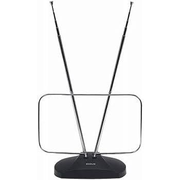 RCA ANT111E Indoor Digital TV Antenna Non-Amplified 40-Mile Range Black