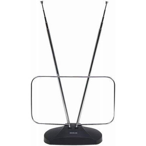 RCA ANT111E Indoor Digital TV Antenna, Non-Amplified, 40-Mile Range Black