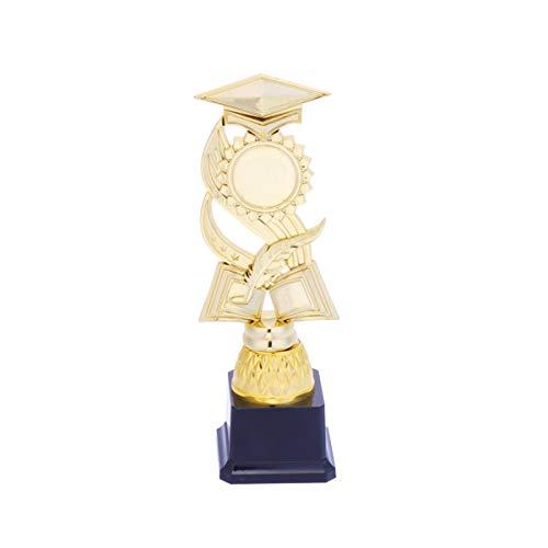 NUOBESTY Trofeo de Oro Trofeo Trofeo de Plástico Doctor Hat Trofeo para Torneos Deportivos Concursos Fiestas Escuela Honor Eventos Graduación Cobre