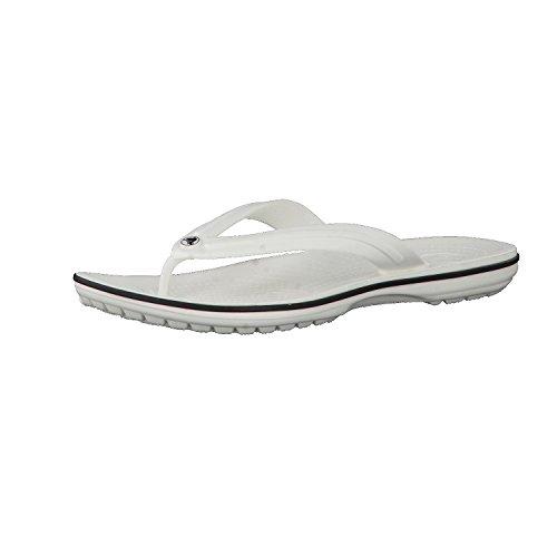 crocs Unisex-Erwachsene Crocband Flip Flop Zehentrenner, White, 42/43 EU