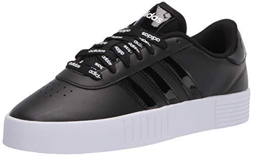 adidas womens Court Bold Sneaker, Black/Black/White, 11 US