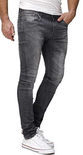 Crone Primo Basic Herren Jeans Hose Stretch Washed Slim Fit Jeanshose (31, Grey Washed)