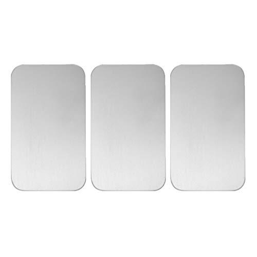 Balacoo, 3 cuscini refrigeranti per animali domestici, in acciaio inox, conigli, criceti, gattini, porcellini d'India (12 cm x 8 cm, argento)