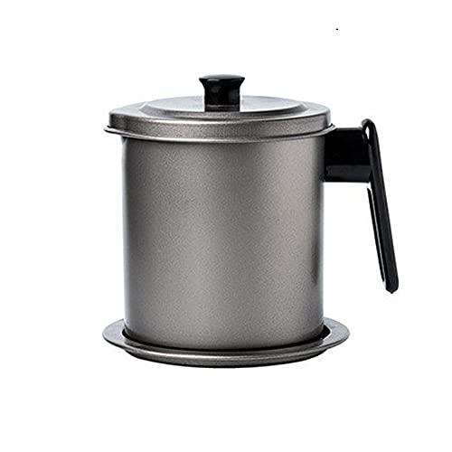 JYDQM 304 Tanque de cerdas de Acero Inoxidable Tanque de Gran Capacidad Cocina Cocina Cocina de Cocina Botella de Aceite Filtro Tanque de residuos (Size : (1.4L))