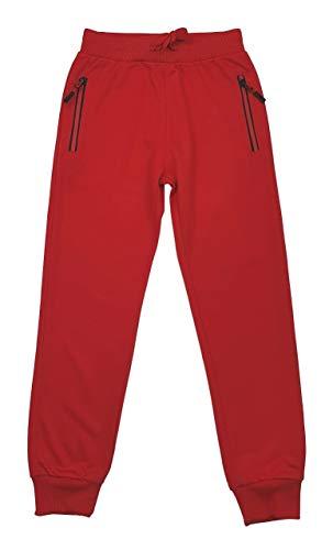 Fashion Boy Jungen/Mädchen Jogginghose, Freizeithose in Rot, Gr. 152/158, J6295.14