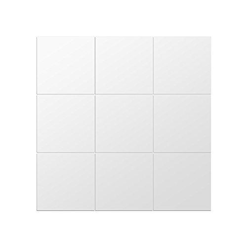 Yosoo Adhesivo Espejo Forma Cuadrada,Espejo Decorativo para Cuarto de Baño Porche Salón, Habitación, 75x75cm(25 Pieza)
