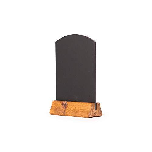 Kreidetafel UK A5 Tischkreidetafel mit Holzsockel, Holz, rustikales Braun, 23 x 15 x 4 cm