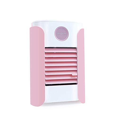 Yeeseu Compacto acondicionador de aire portátil con deshumidificador y ventilador Compatible with el espacio personal del refrigerador de aire purificador del humectador del ventilador de escritorio (
