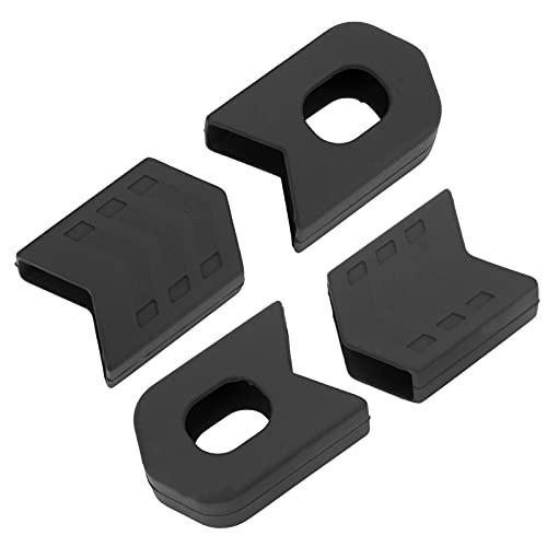 クランクセットキャッププロテクター、シリコンバイククランクブーツ屋外用自転車用高信頼性(黒)