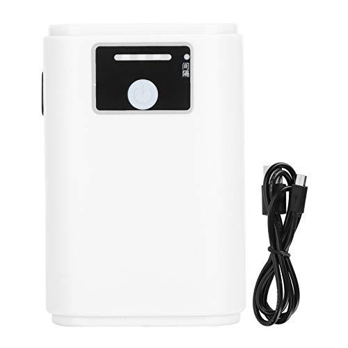 Jeanoko Aquarium Oxygen Pump Ultra‑Quiet Adjustable Aquarium Air Pump Hydroponic Air Bubbler Pump Fish(ZY-N10-USB Lithium Battery Air Pump-Single Hole)