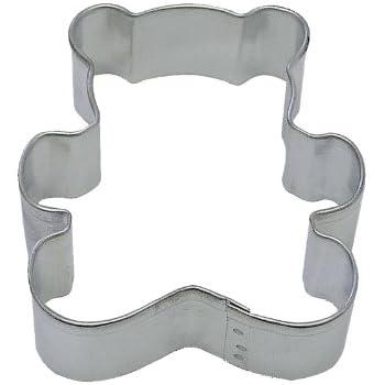 Ann Clark Teddy Bear Metal Cookie Cutter 4 inch Tin Plated Steel