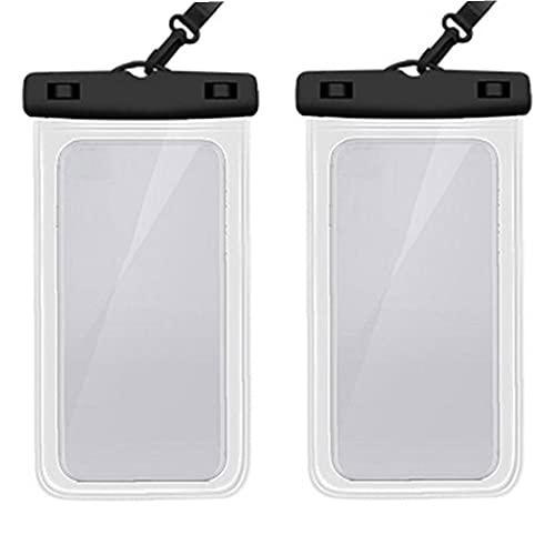 Nicetruc Funda Impermeable Paquete De 2, a Prueba De Agua Bolsa del Teléfono Bolso Seco para El iPhone 11 Pro MAX MAX X XR XS X 8 7 6 6s Plus Samsung S20 S10e S9 S8 Huawei P30 Pro 20 Pro,