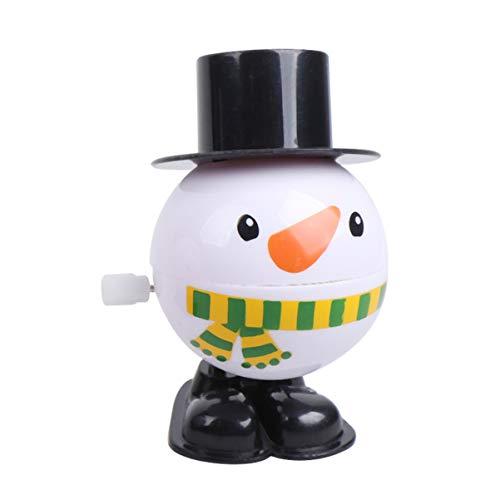 KESYOO 2Pcs Navidad Wind up Toys Muñeco de Nieve Juguetes Mecánicos Caminando Balbuceando Figura Saltando Estatuilla Juguete Goody Bag Relleno Regalo para Navidad Fiesta de Vacaciones