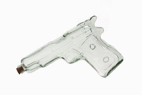 """Glasflasche """"Pistole"""" für ca. 200 ml - Coole Flasche in Design von einer Pistole - ca. 23 cm """"Fire Gun Glass"""" Titelbild"""