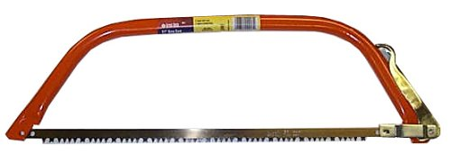 GreatNeck BB24 24 Inch Bow Saw, Tubular Steel Wood Saw, Camping Saw, Bow Saws for Trees, Chrome Alloy Steel Bow Saw Blade 24 Inch, GreatNeck Tools