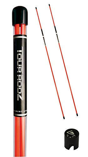 Longridge Golf Practice Aid Tour Rodz Alignment Sticks, orange