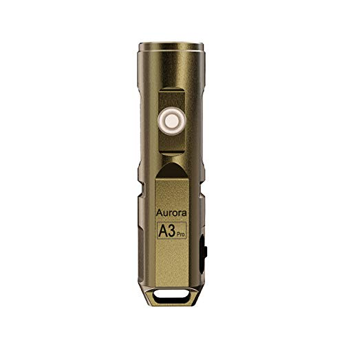 RovyVon A3 Pro 6500K LED Keychain Flashlight, 700 Lumen Cree Super Bright with EDC Pocket-size,5 Mode,Waterproof,USB Rechargebale Battery,Best for Camping,Emergency,Outdoor