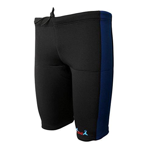Baoblaze Herren Damen 3mm Neoprenanzug Neoprenhose Neopren Shorts Schwimmhose Kurze Surfhose Wassersport - Marineblau und Schwarz, M