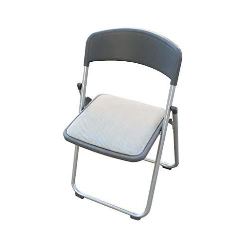 Chaise d'ordinateur Chaise Pliante réunion de Bureau Chaise de réception de selles Formation Maille Gris rembourré PENGJIE