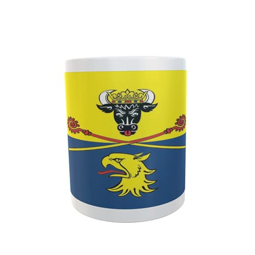 U24 Tasse Kaffeebecher Mug Cup Flagge Landkreis Rostock