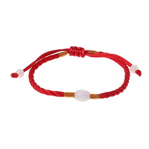 VVXXMO Pulsera de cadena roja de Natal Year Mujer,Pulsera de trenza roja de la suerte de protección del mal,Accesorios de joyería de moda de amuleto