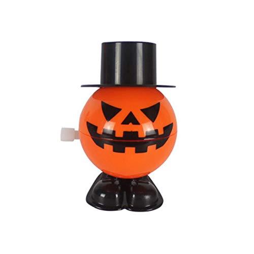 Calabaza de salto de Halloween con gorra Fiesta de calabaza en movimiento Niños Favor Juguetes Juguete de cuerda Sonrisa Cara Calabazas Favor de Halloween