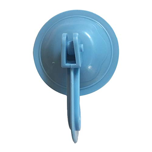 Ganchos para ventosas para toallas de cocina, soporte de pared extraíble para azulejos de cristal liso y espejo Fashion, color azul
