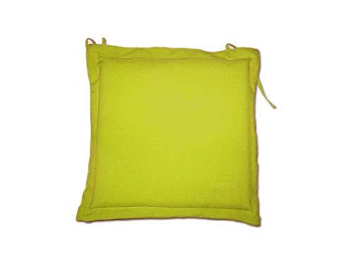 Lot de 4 Coussins Galette Garden - Chaise/Fauteuil - 40 x 40 cm - Lemon