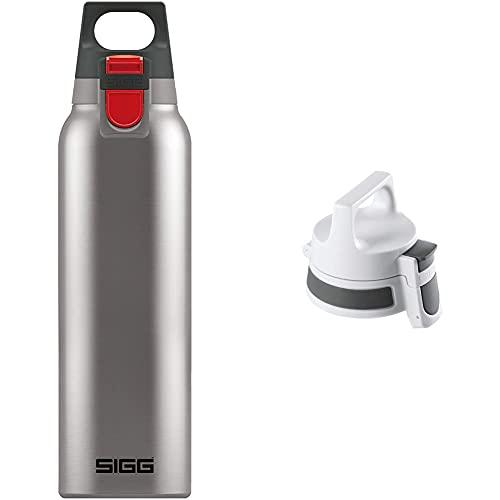 SIGG Hot & Cold ONE Brushed Thermo Trinkflasche (0.5 L), schadstofffreie und isolierte Trinkflasche & WMB ONE Top Anthracite Verschluss (One Size), Ersatzteil für SIGG Trinkflasche